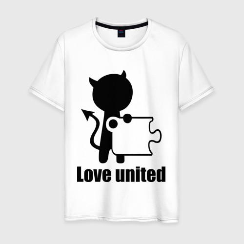 Мужская футболка хлопок Love united мужская