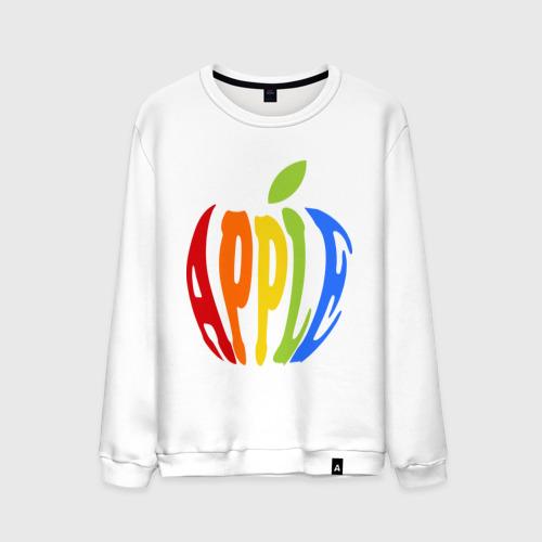 Мужской свитшот хлопок Apple яблоко