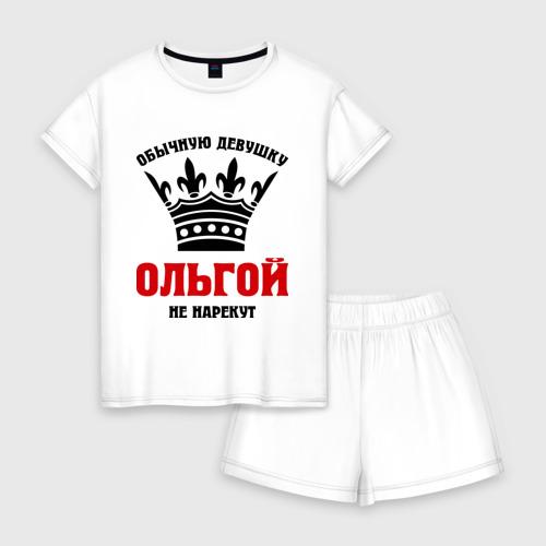 Женская пижама с шортиками хлопок Царские имена (Ольга)