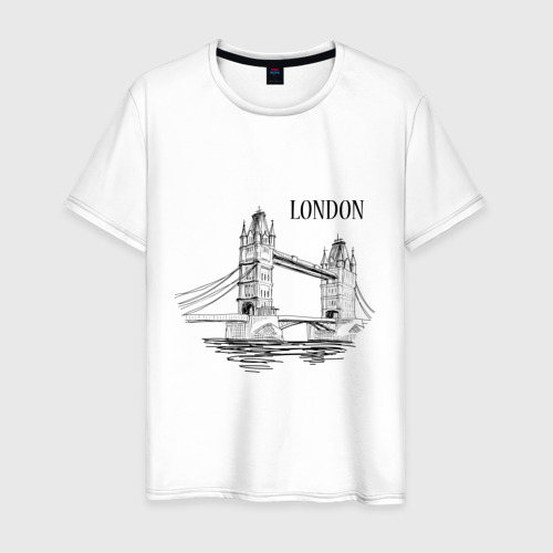 Мужская футболка хлопок LONDON (эскиз)
