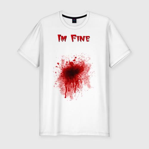 Мужская футболка хлопок Slim Кровавое пятно