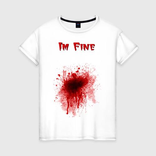 Женская футболка хлопок Кровавое пятно