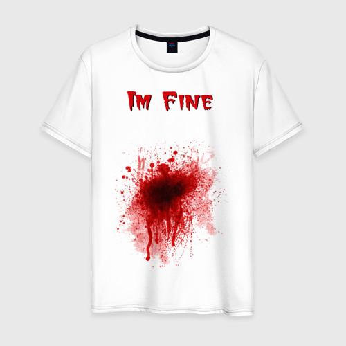 Мужская футболка хлопок Кровавое пятно