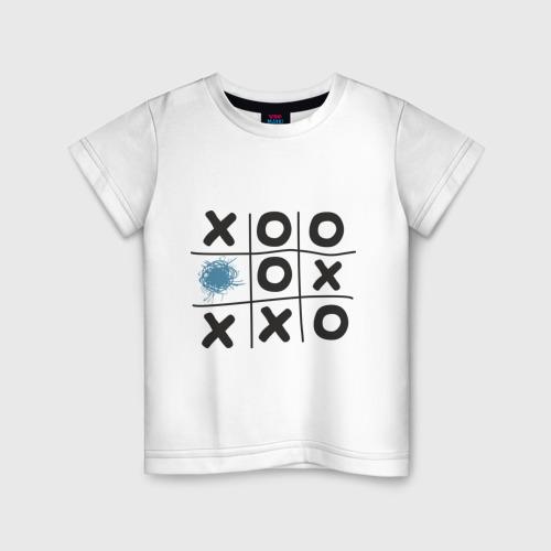 Детская футболка хлопок Хабра- крестики нолики