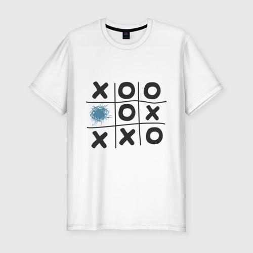 Мужская футболка хлопок Slim Хабра- крестики нолики