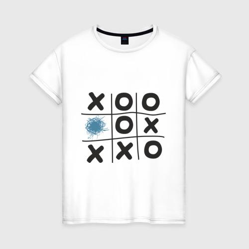 Женская футболка хлопок Хабра- крестики нолики