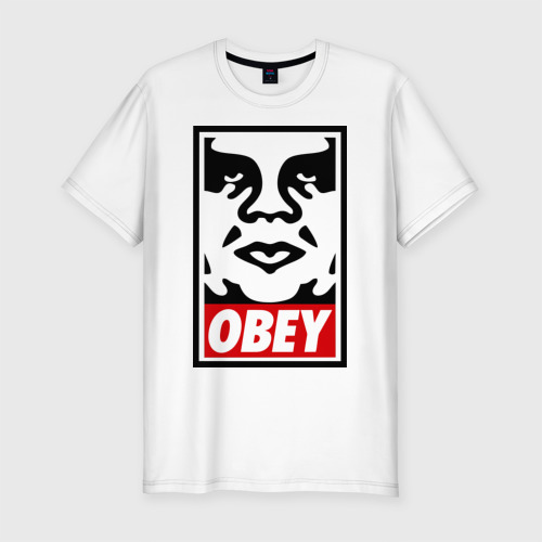 Мужская футболка хлопок Slim Мем OBEY