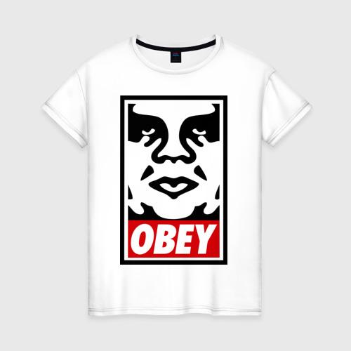 Женская футболка хлопок Мем OBEY