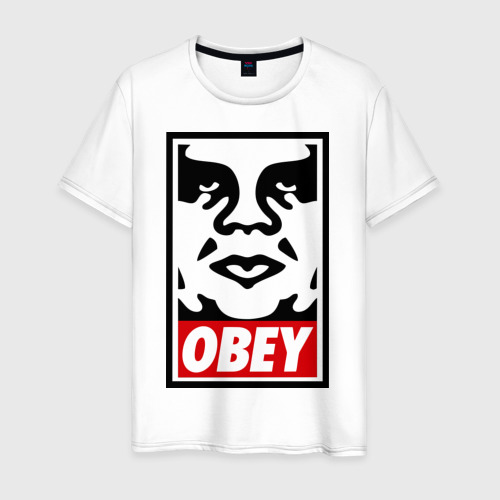 Мужская футболка хлопок Мем OBEY