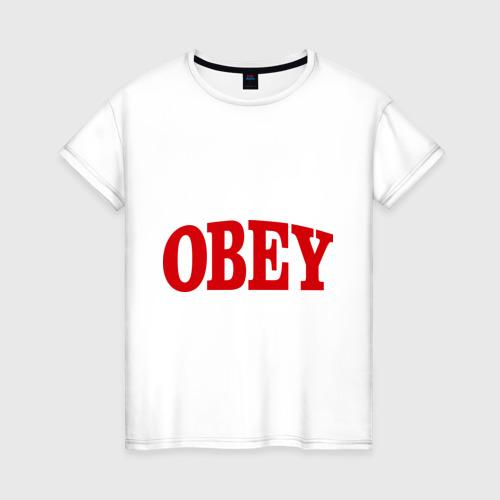 Женская футболка хлопок OBEY закругленный