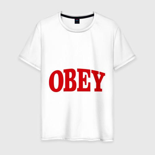 Мужская футболка хлопок OBEY закругленный