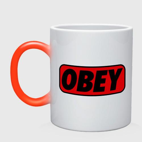 Кружка хамелеон Лого OBEY