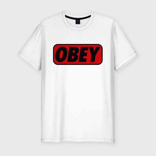 Мужская футболка хлопок Slim Лого OBEY