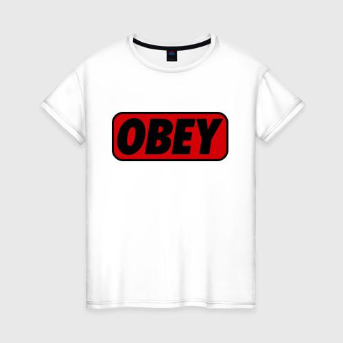 Женская футболка хлопок Лого OBEY