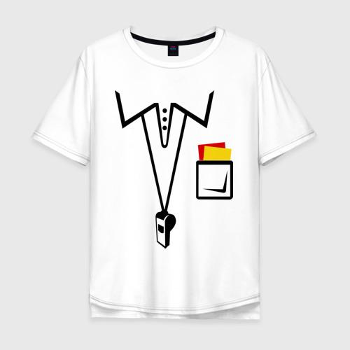Мужская футболка хлопок Oversize Футбольный арбитр