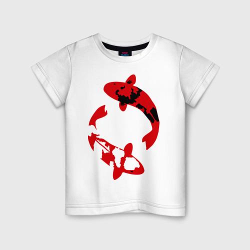 Детская футболка хлопок Карпы кои (koi fish)