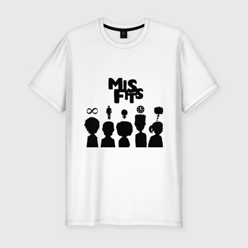Мужская футболка хлопок Slim Misfits:Отбросы