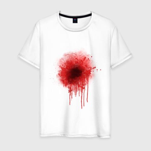 Мужская футболка хлопок Кровь на сердце
