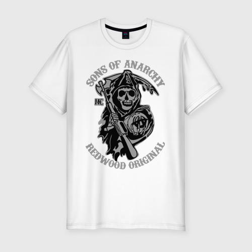 Мужская футболка хлопок Slim Sons of anarchy logo