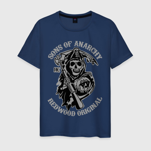 Мужская футболка хлопок Sons of anarchy logo