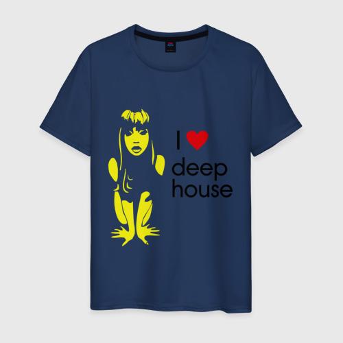 Мужская футболка хлопок I love deep house