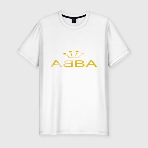 Мужская футболка хлопок Slim ABBA золото