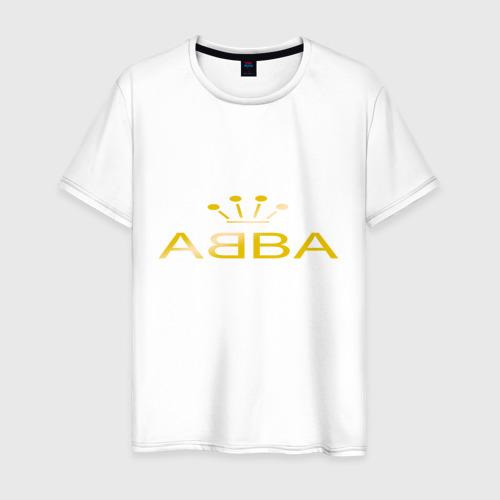 Мужская футболка хлопок ABBA золото