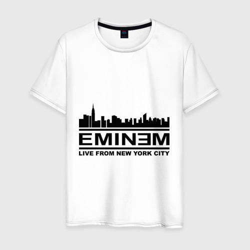 Мужская футболка хлопок Live from NY city