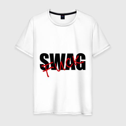 Мужская футболка хлопок Swag fuck