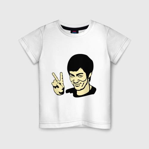 Детская футболка хлопок Позитивный Брюс Ли