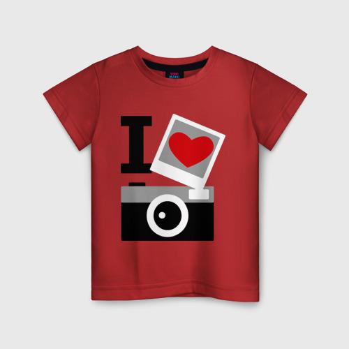 Детская футболка хлопок Я люблю фото