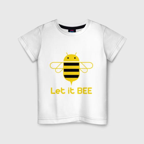 Детская футболка хлопок Android - Let It Bee