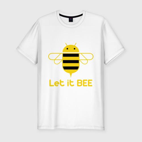 Мужская футболка хлопок Slim Android - Let It Bee