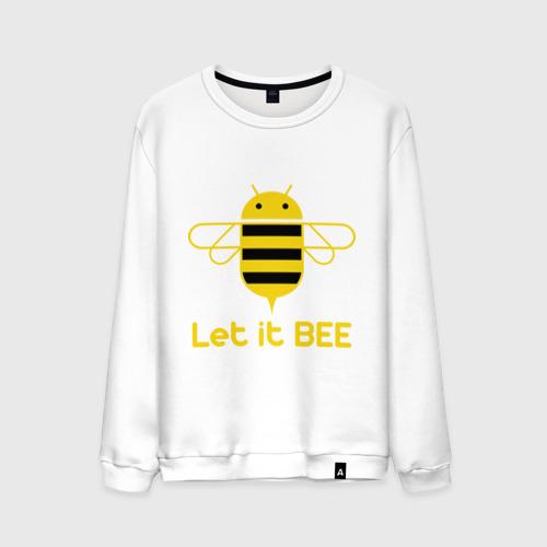 Мужской свитшот хлопок Android - Let It Bee
