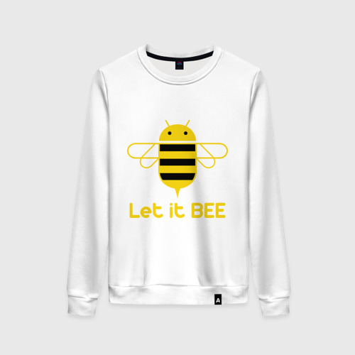 Женский свитшот хлопок Android - Let It Bee