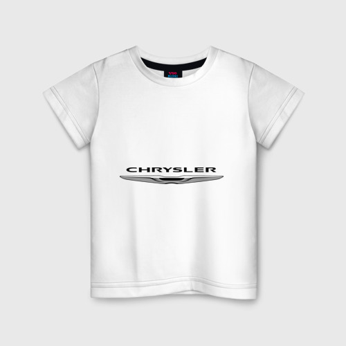 Детская футболка хлопок Chrysler лого