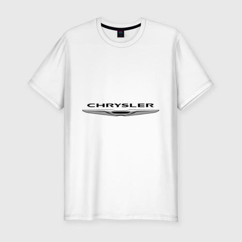 Мужская футболка хлопок Slim Chrysler лого