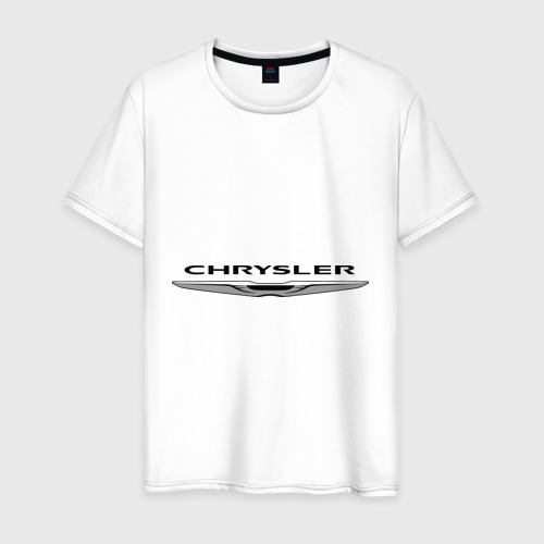 Мужская футболка хлопок Chrysler лого