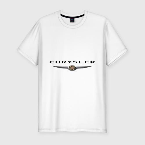 Мужская футболка хлопок Slim Chrysler logo