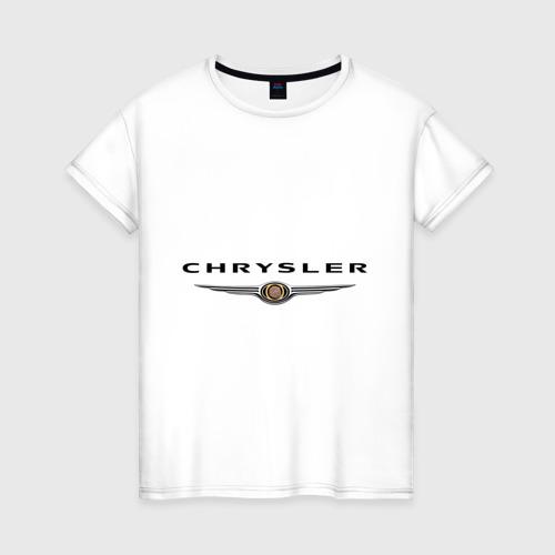 Женская футболка хлопок Chrysler logo