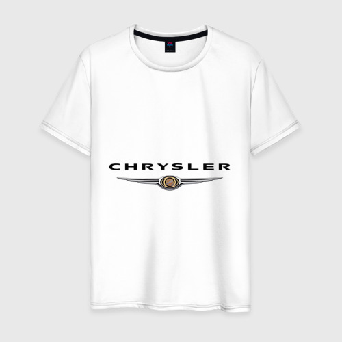 Мужская футболка хлопок Chrysler logo