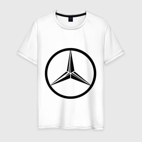 Мужская футболка хлопок Mercedes-Benz logo