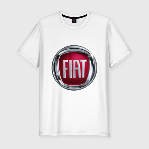 Мужская футболка хлопок Slim FIAT logo