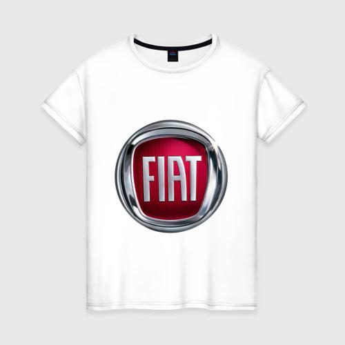 Женская футболка хлопок FIAT logo