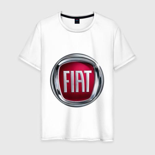 Мужская футболка хлопок FIAT logo