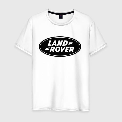 Мужская футболка хлопок Land Rover logo
