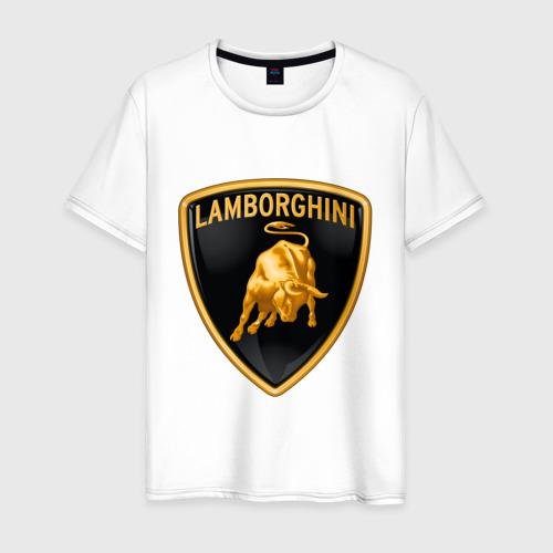 Мужская футболка хлопок Lamborghini logo