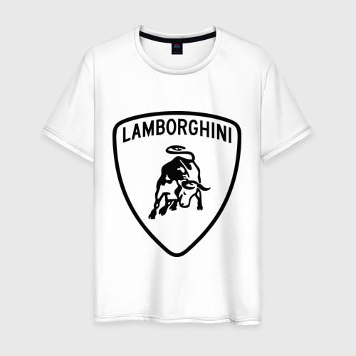 Мужская футболка хлопок Lamborghini лого