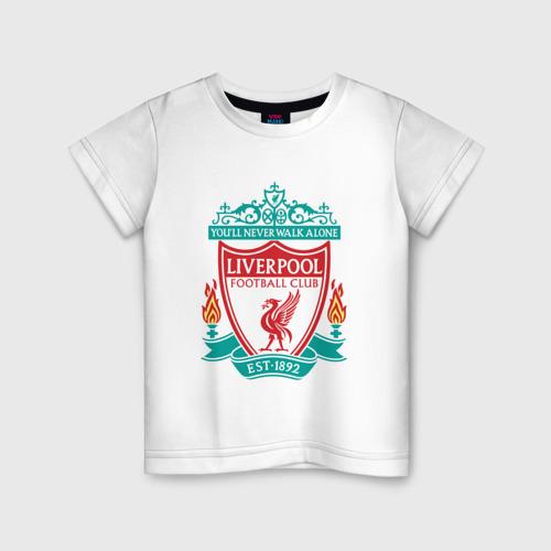 Детская футболка хлопок Liverpool logo