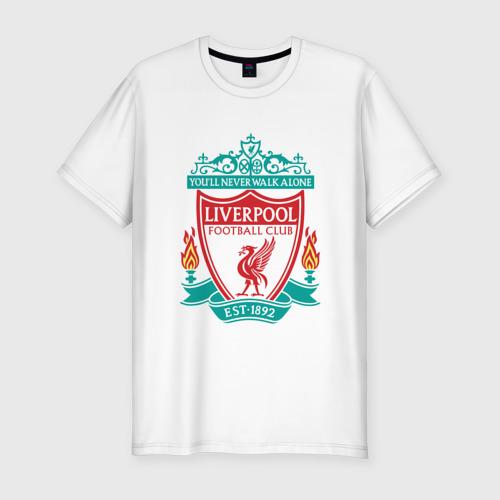 Мужская футболка хлопок Slim Liverpool logo